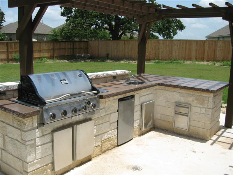 how to build a concrete countertop for outdoor kitchen | american hwy