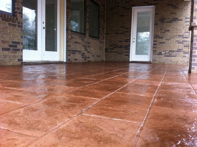 Stamped concrete bryan tx exquisite concrete designs for Concrete house texas