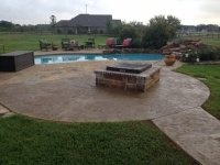 Overlay around pool